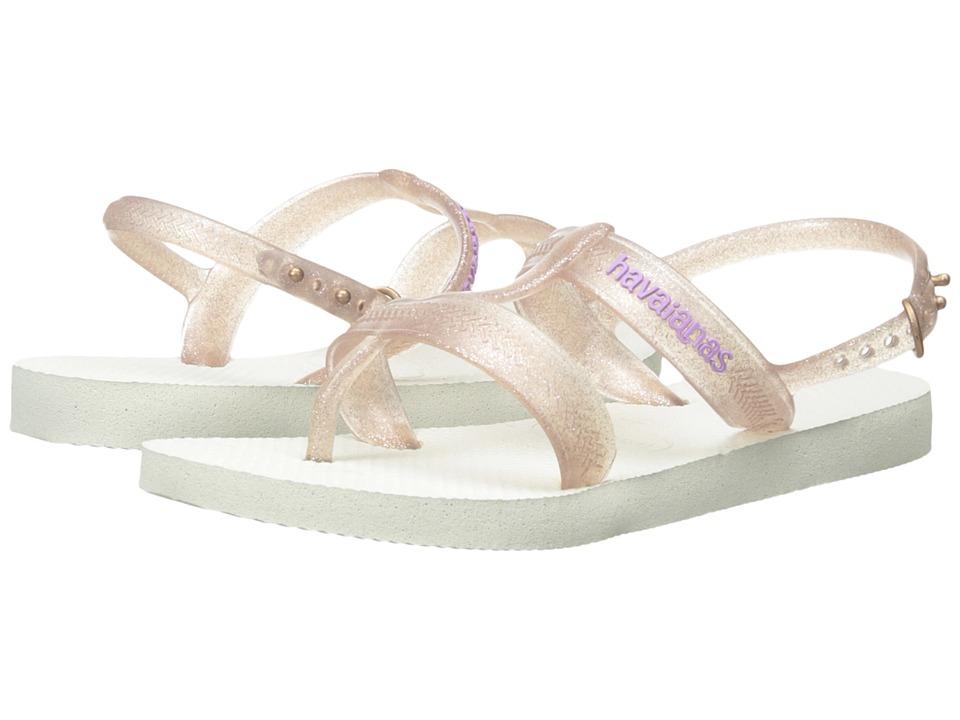 Havaianas Kids - Joy (Toddler/Little Kid/Big Kid) (White) Girls Shoes