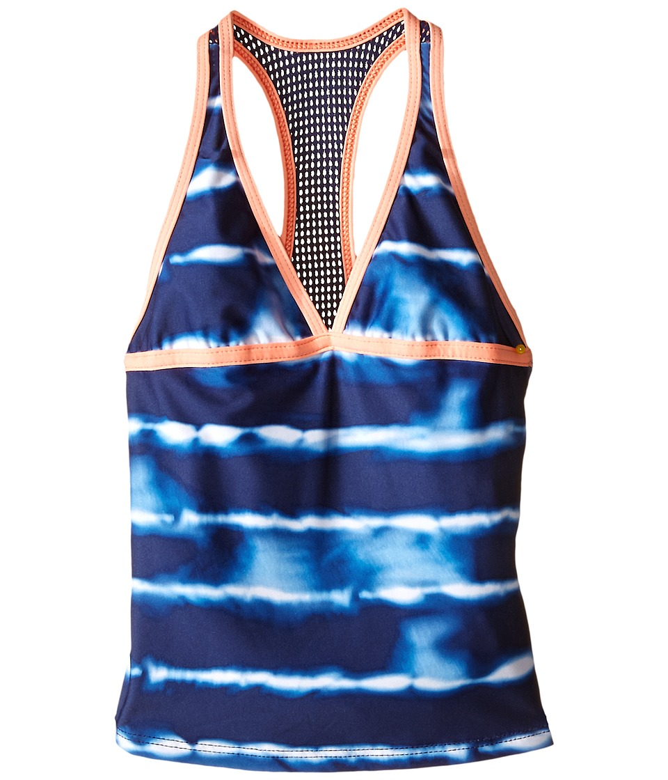 Splendid Littles - Midnight Stripe Tankini Retro Pants (Big Kids) (Navy) Girl's Swimwear Sets