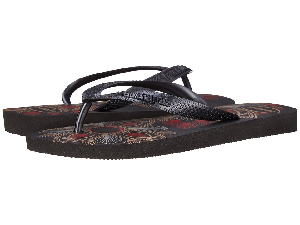 Havaianas - Spring Flip Flops (Black/Dark Grey) Women's Sandals
