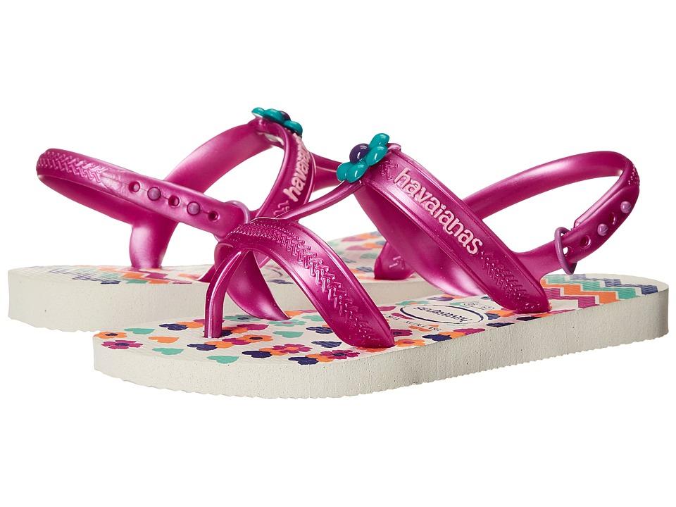 Havaianas Kids - Joy Spring (Toddler/Little Kid/Big Kid) (White) Girls Shoes
