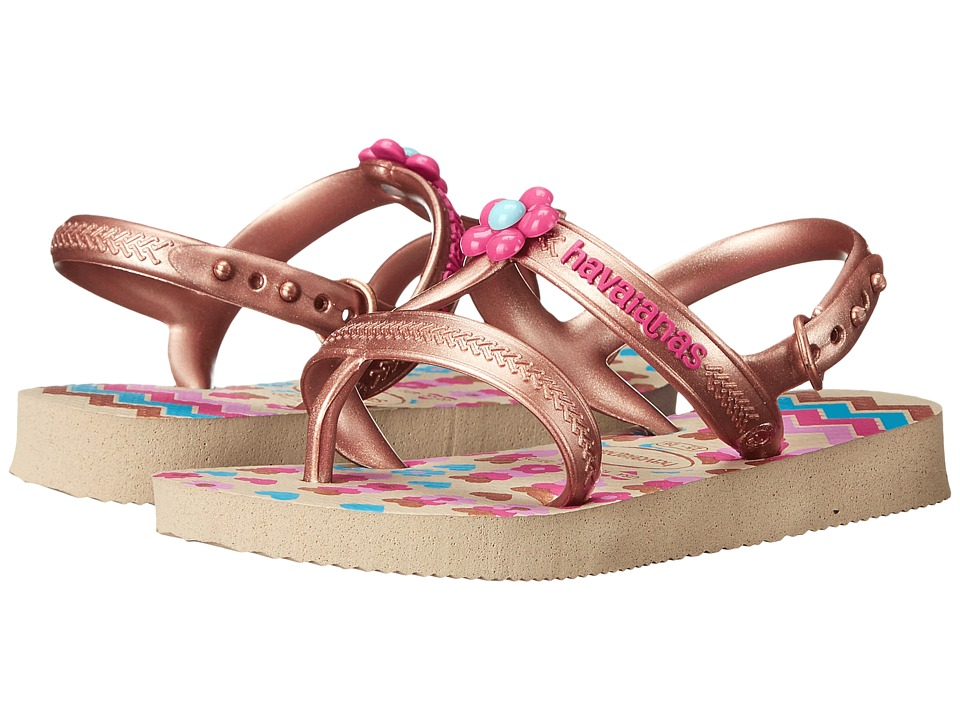 Havaianas Kids - Joy Spring (Toddler/Little Kid/Big Kid) (Sand Grey) Girls Shoes