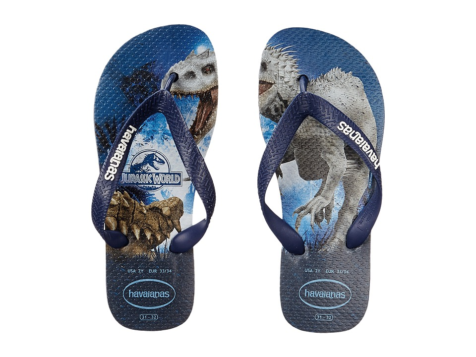 Havaianas Kids - Jurassic World (Toddler/Little Kid/Big Kid) (Indigo Blue) Boys Shoes