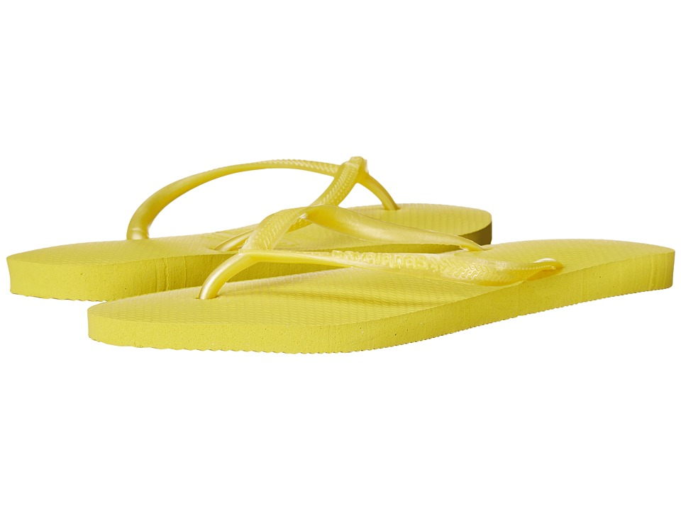 Havaianas Slim Flip Flops (Revival Yellow) Women