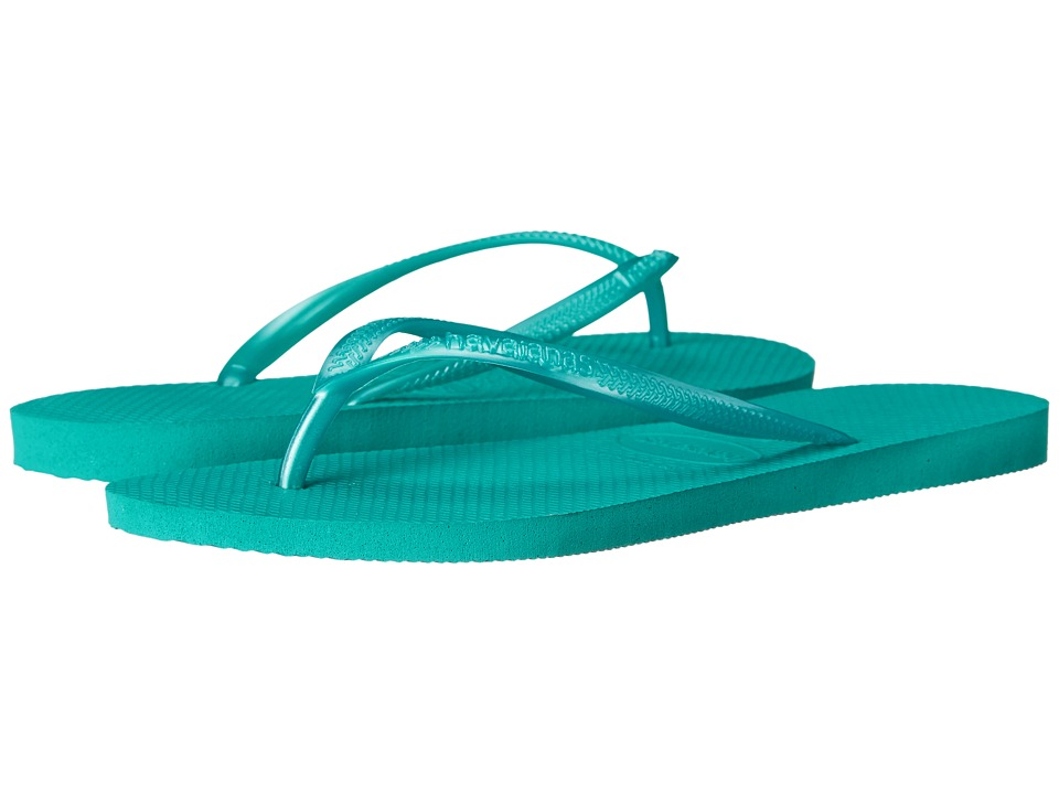 Havaianas - Slim Flip Flops (Lake Green) Women's Sandals