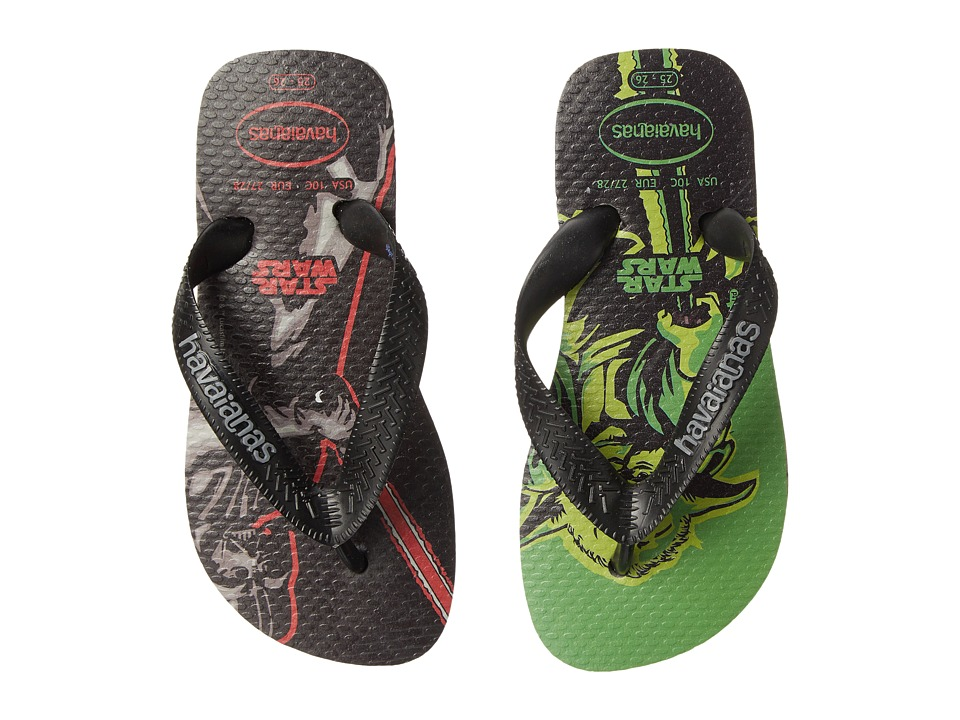 Havaianas Kids - Star Wars (Toddler/Little Kid/Big Kid) (Grey/Black) Boys Shoes