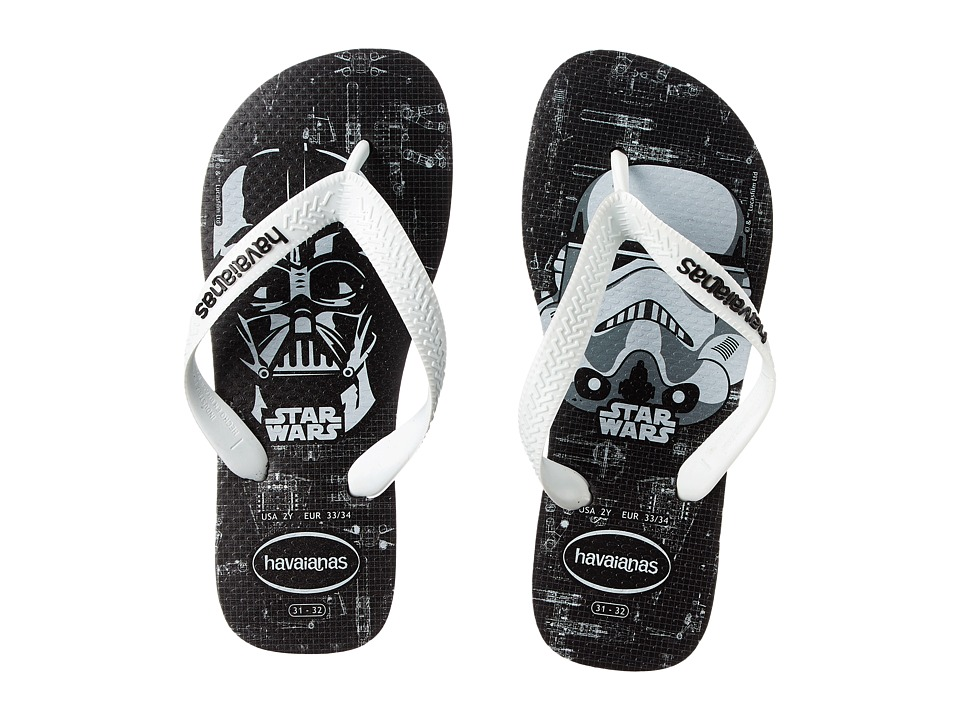 Havaianas Kids - Star Wars (Toddler/Little Kid/Big Kid) (Black/White) Boys Shoes