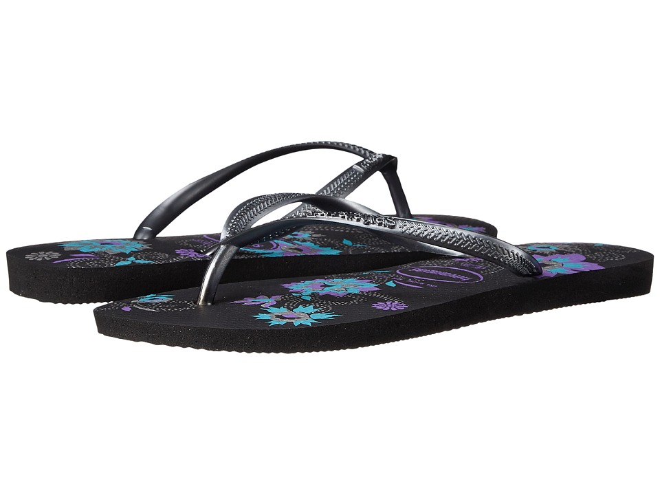 Havaianas - Slim Organic Flip Flops (Black) Women's Sandals