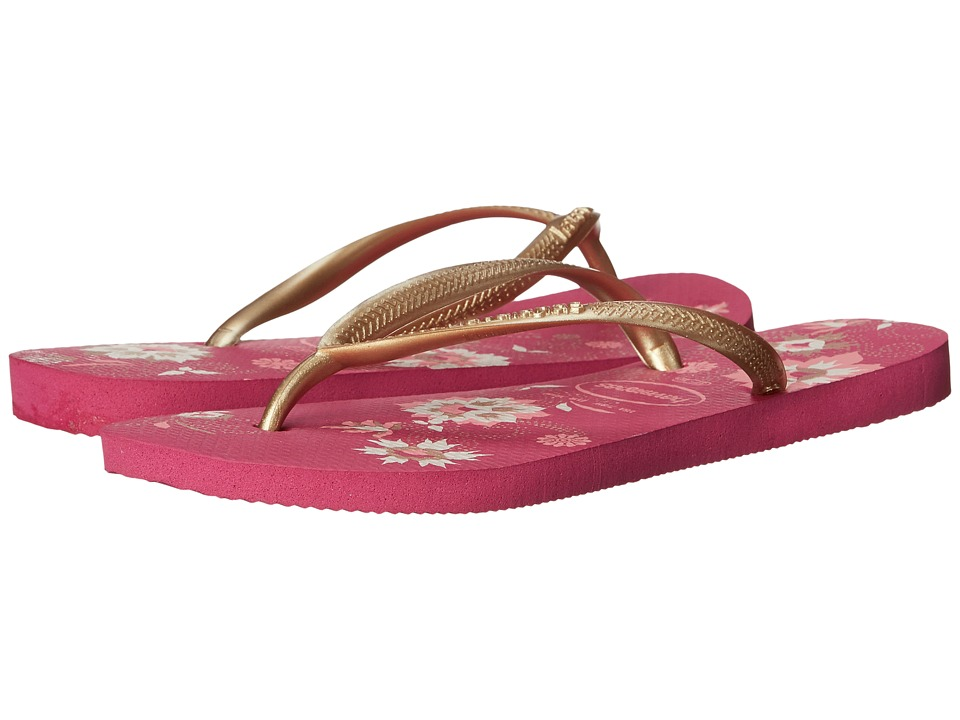 Havaianas - Slim Organic Flip Flops (Raspberry Rose) Women's Sandals