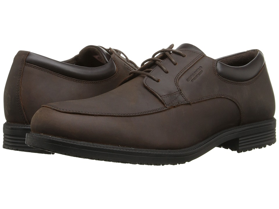 Rockport - Essential Details Waterproof Apron Toe (Dark Tan) Men's Lace Up Cap Toe Shoes