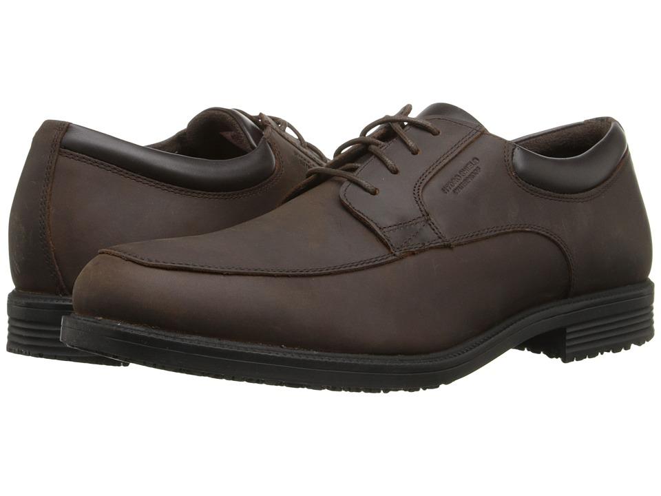 Rockport - Essential Details Waterproof Apron Toe (Dark Tan) Men's Lace Up Cap Toe Shoes