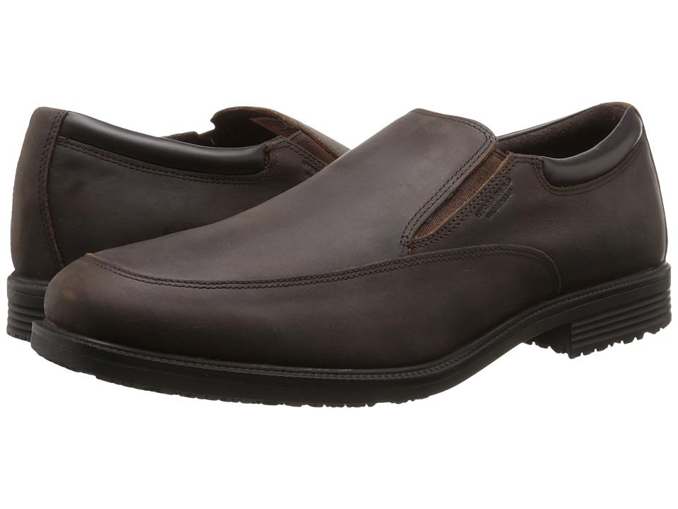 Rockport - Essential Details Waterproof Slip On (Dark Tan) Men's Slip on Shoes