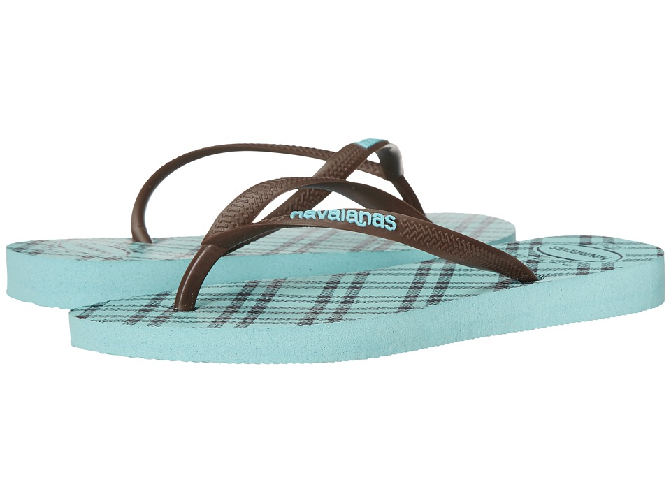 Havaianas - Slim Retro Flip Flops (Ice Blue) Women's Sandals