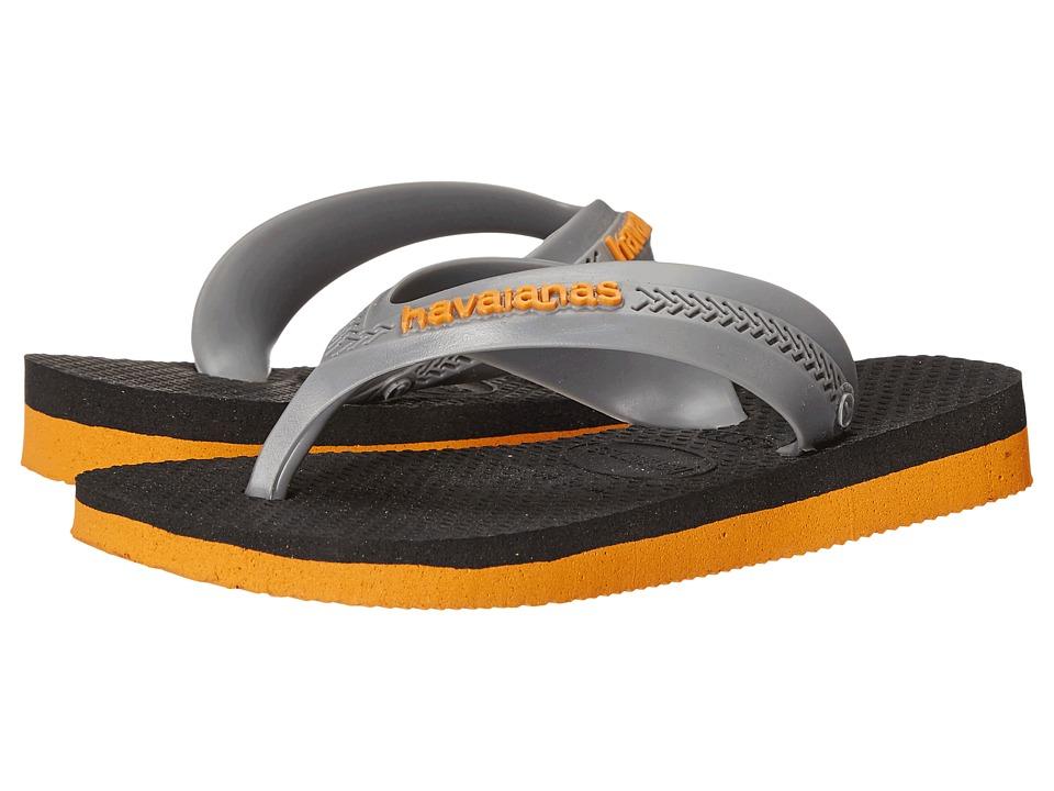 Havaianas Kids - Max (Toddler/Little Kid/Big Kid) (Orange/Black) Boys Shoes