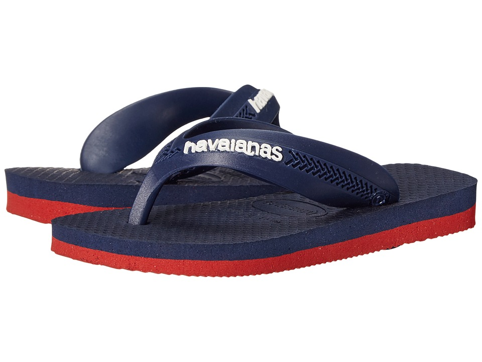 Havaianas Kids - Max (Toddler/Little Kid/Big Kid) (Red/Navy Blue) Boys Shoes