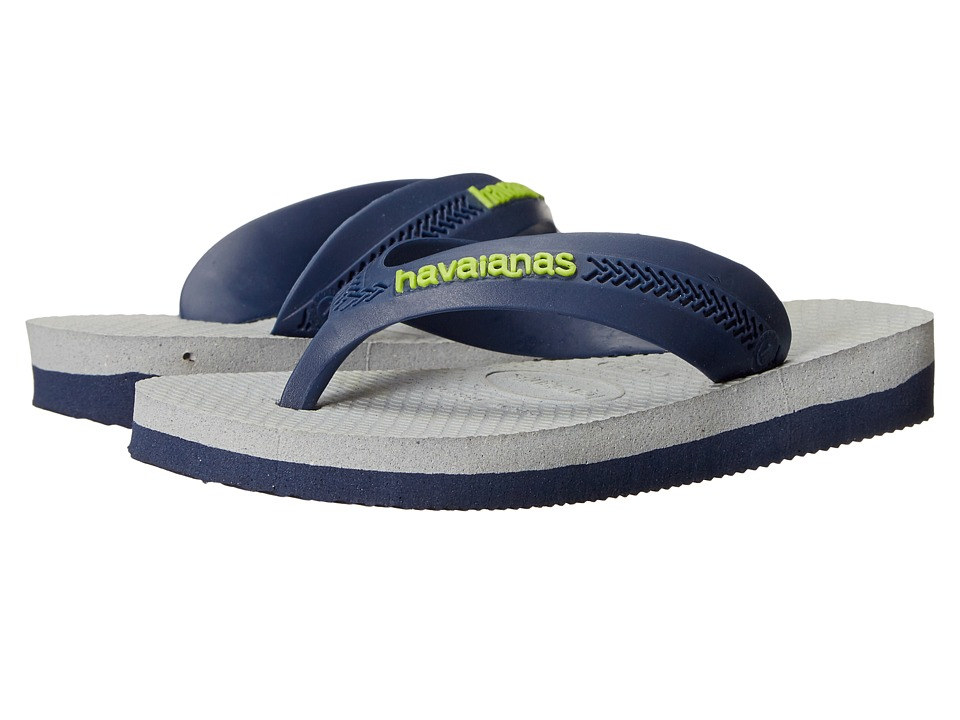 Havaianas Kids - Max (Toddler/Little Kid/Big Kid) (Navy Blue/Ice Grey) Boys Shoes