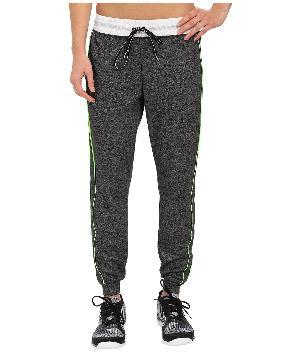Zobha - Relaxed Track Pants w/ Flat Tipping (Black) Women's Workout