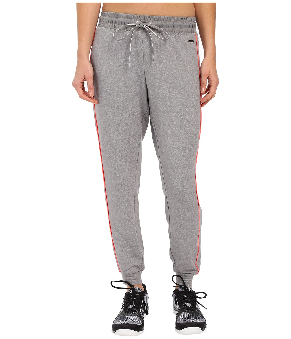 Zobha - Relaxed Track Pants w/ Flat Tipping (Heather Grey) Women's Workout