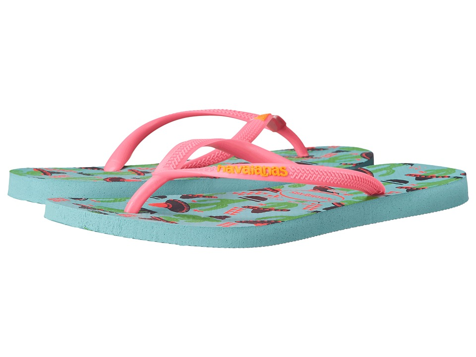 Havaianas - Slim Cool Flip Flops (Ice Blue) Women's Sandals