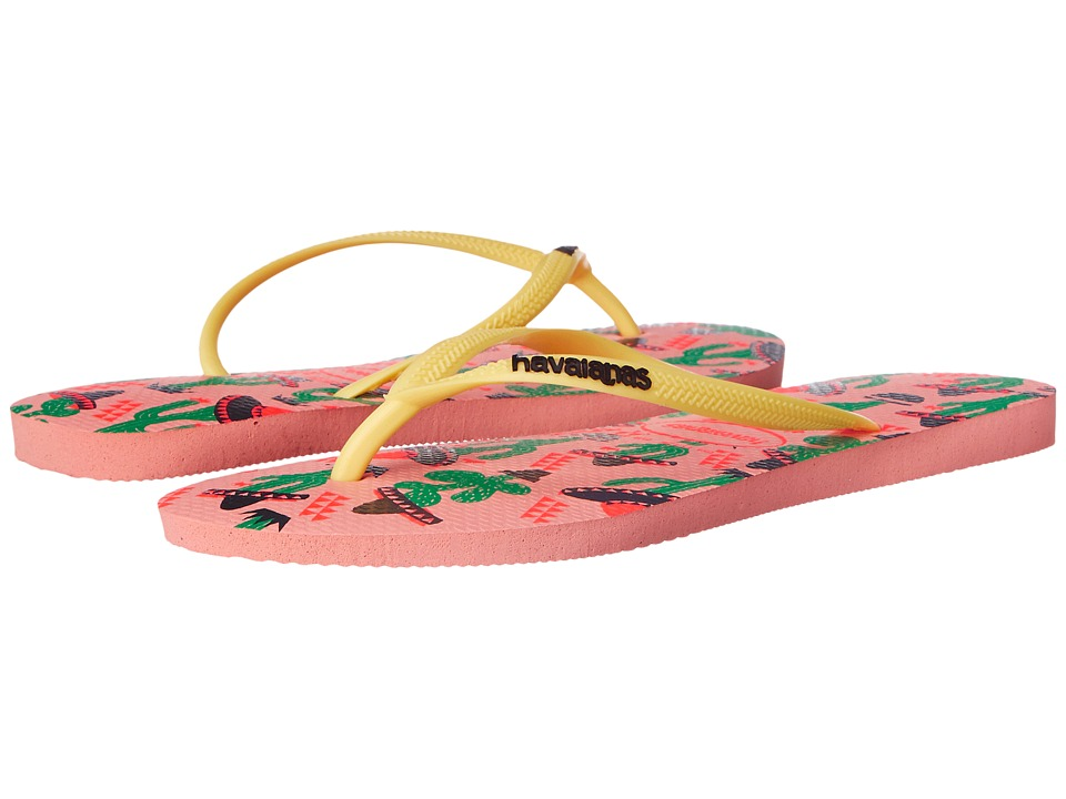 Havaianas - Slim Cool Flip Flops (Light Pink) Women's Sandals