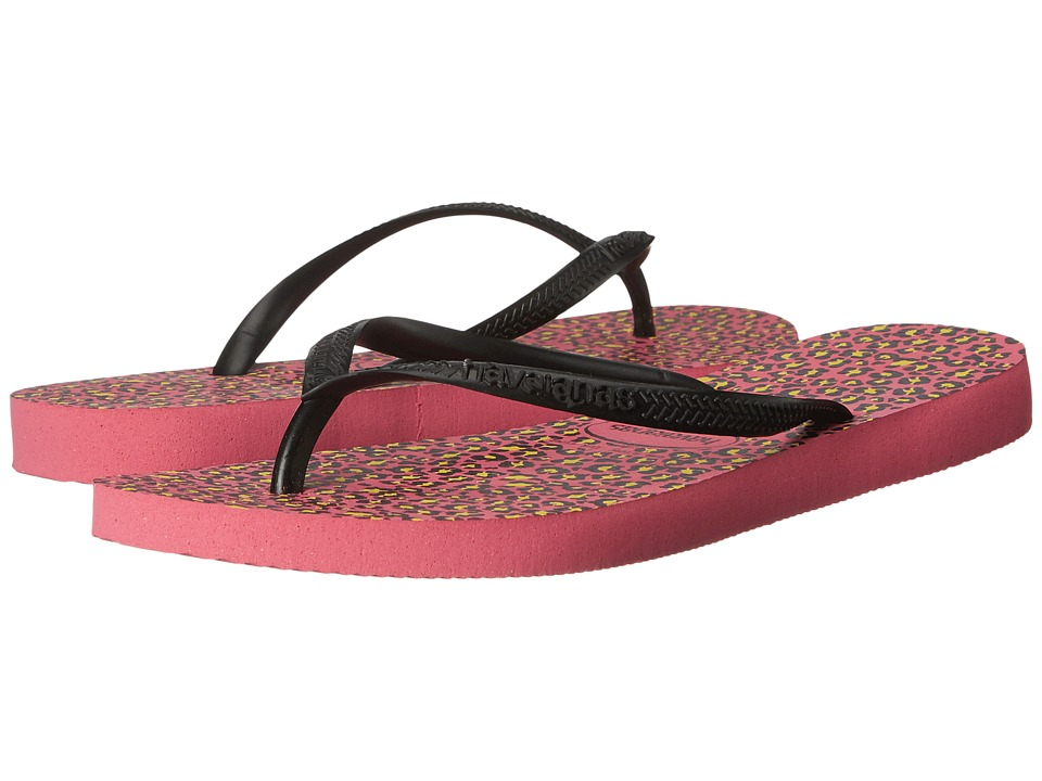 Havaianas - Slim Animals Flip Flops (Shocking Pink) Women's Sandals