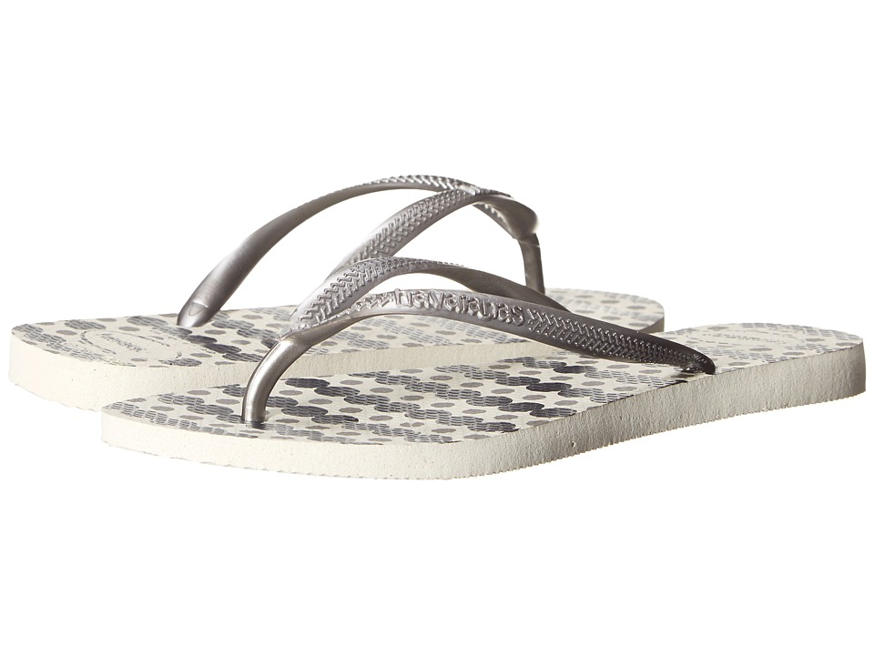 Havaianas Slim Fresh Flip Flops (White) Women