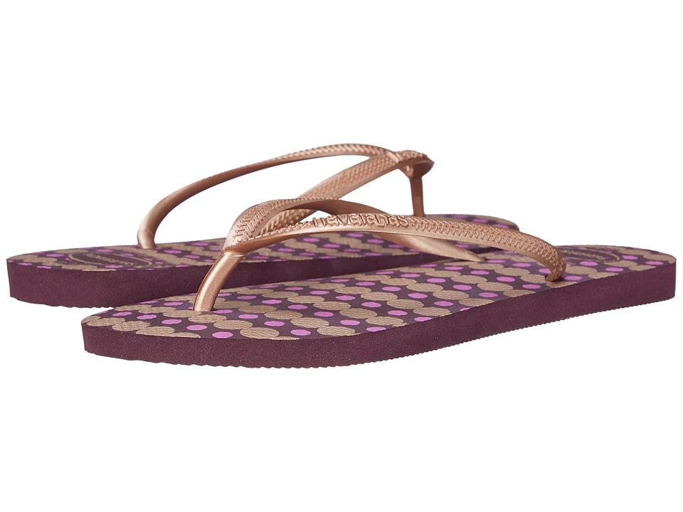 Havaianas - Slim Fresh Flip Flops (Aubergine) Women's Sandals