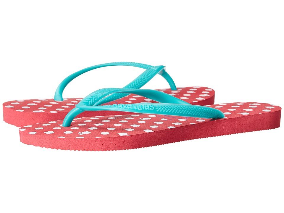 Havaianas - Slim Fresh Flip Flops (Neon Pink) Women's Sandals