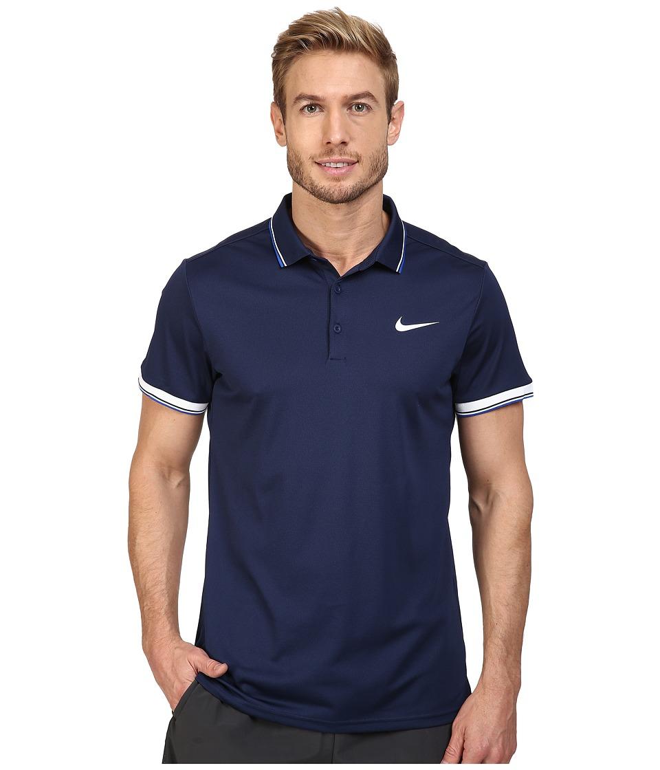 Nike - Court Polo (Midnight Navy/Midnight Navy/White) Men's Short Sleeve Pullover