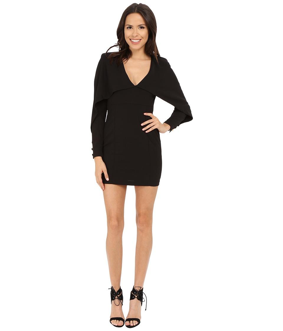 Brigitte Bailey - Geneva Crepe Overlay Dress (Black) Women