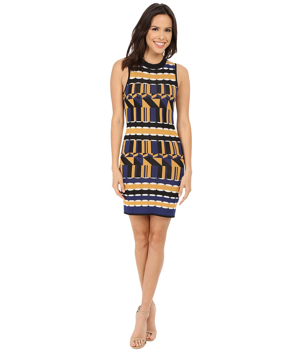 Brigitte Bailey - Verena Printed Sleeveless Dress (Royal/Camel) Women's Dress