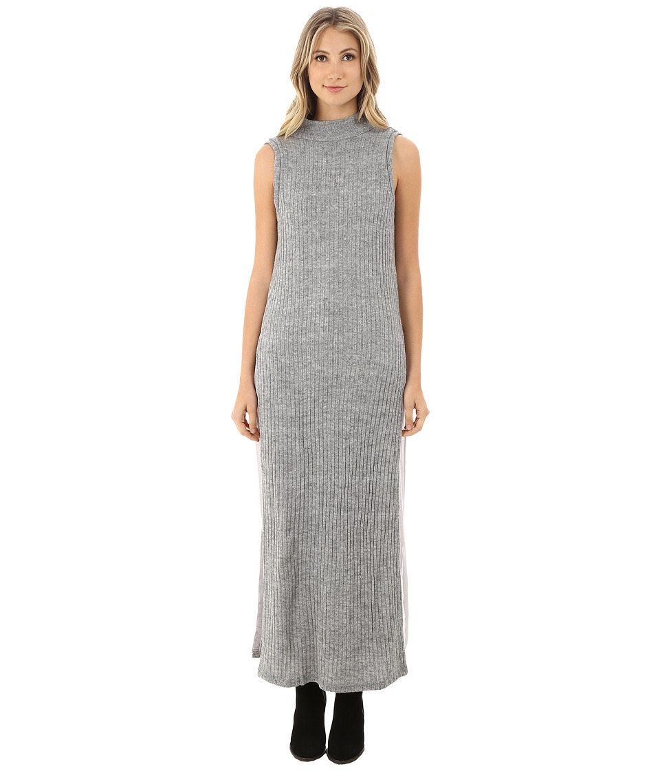 Brigitte Bailey - Isadora Mock Neck Sleeveless Ribbed Dress (Heather Grey) Women