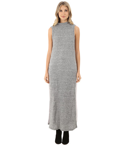 Brigitte Bailey - Isadora Mock Neck Sleeveless Ribbed Dress (Heather Grey) Women's Dress