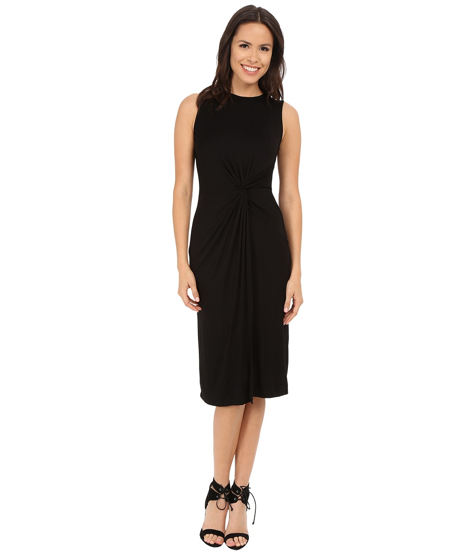 Brigitte Bailey - Sheila Sleeveless Twist Front Dress (Black) Women's Dress