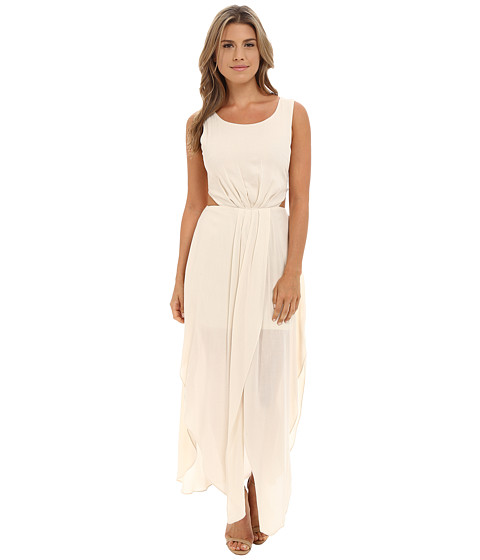Brigitte Bailey - Ramona Woven Dress w/ Side Cutout (Cream) Women