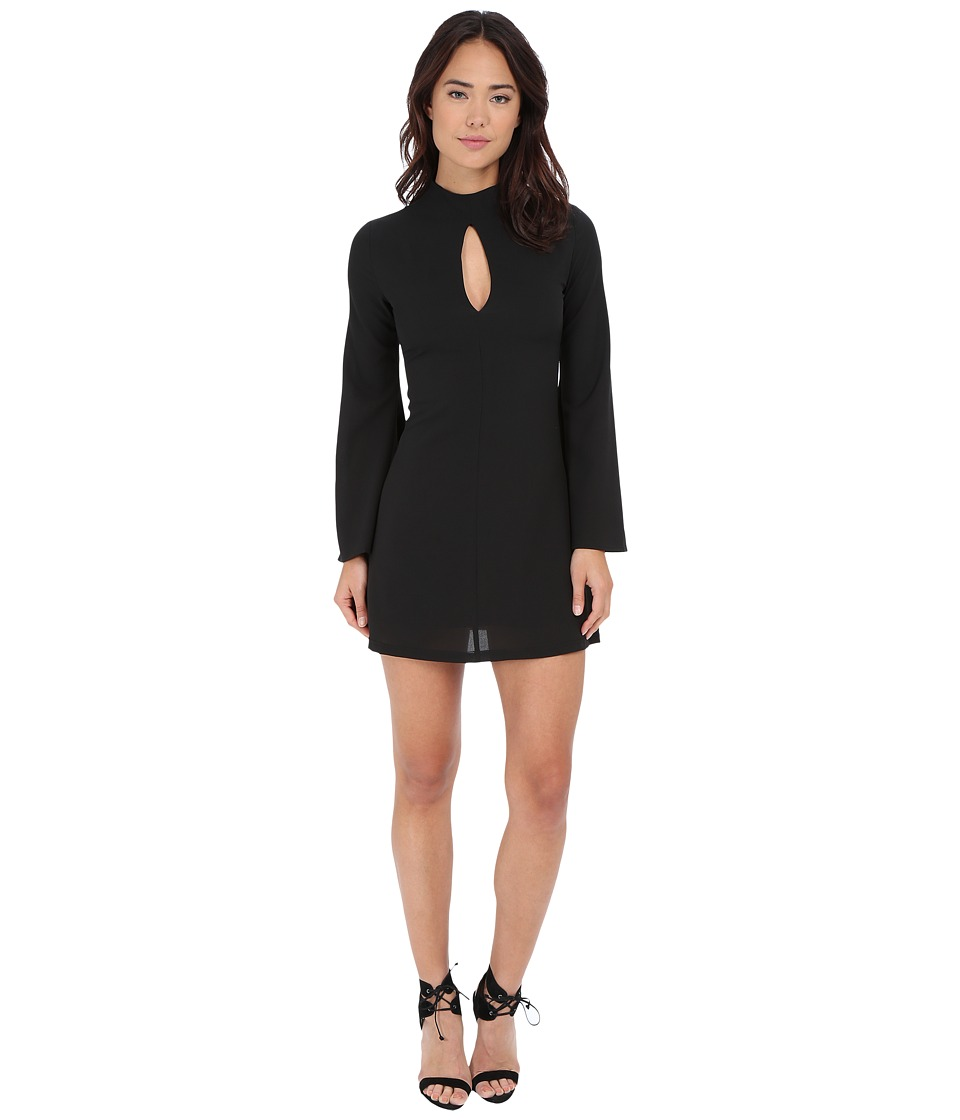 Brigitte Bailey - Liv Long Sleeve Dress w/ Flared Arms (Black) Women