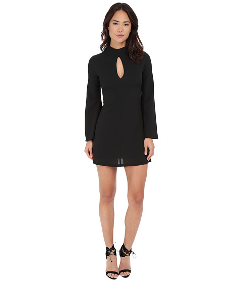 Brigitte Bailey - Liv Long Sleeve Dress w/ Flared Arms (Black) Women