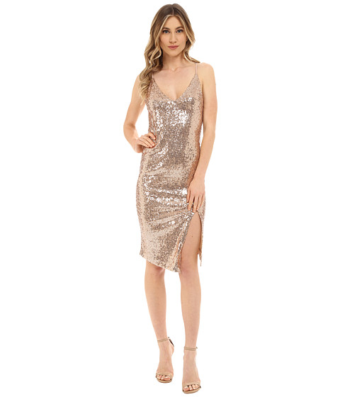 Brigitte Bailey - Polly Sleeveless Sequin Dress (Champagne) Women