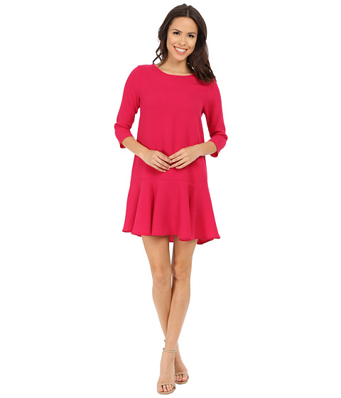 Brigitte Bailey - Delia 3/4 Sleeve Drop Waist Dress (Magenta) Women