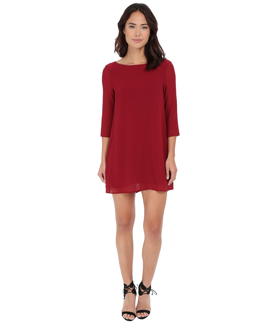 Brigitte Bailey - Lucia Back Ribbon Tie Dress (Burgundy) Women's Dress