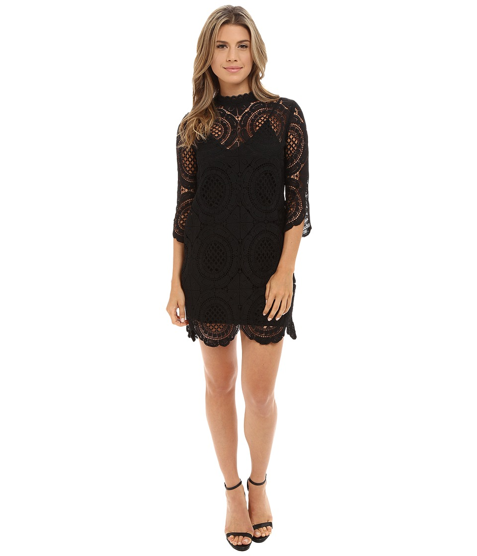 Brigitte Bailey - Imogen 3/4 Sleeve Lace Dress w/ Slip (Black) Women's Dress