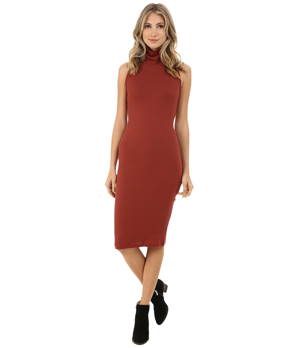 Brigitte Bailey - Roxanne Sleeveless Cowl Neck Dress (Rust) Women