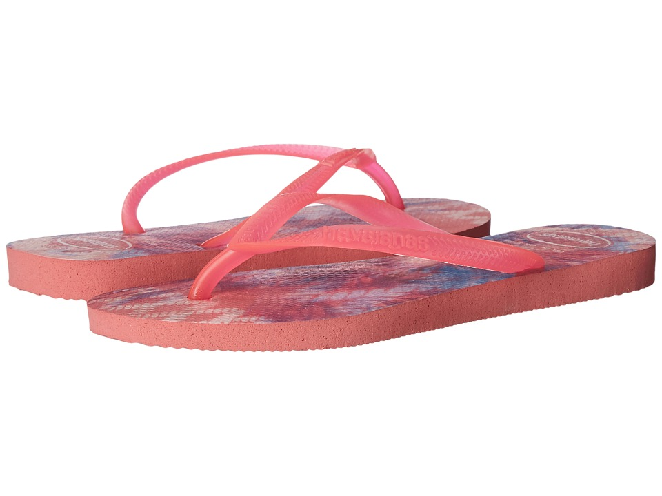 Havaianas - Slim Tie-Dye Flip Flops (Rose) Women's Sandals