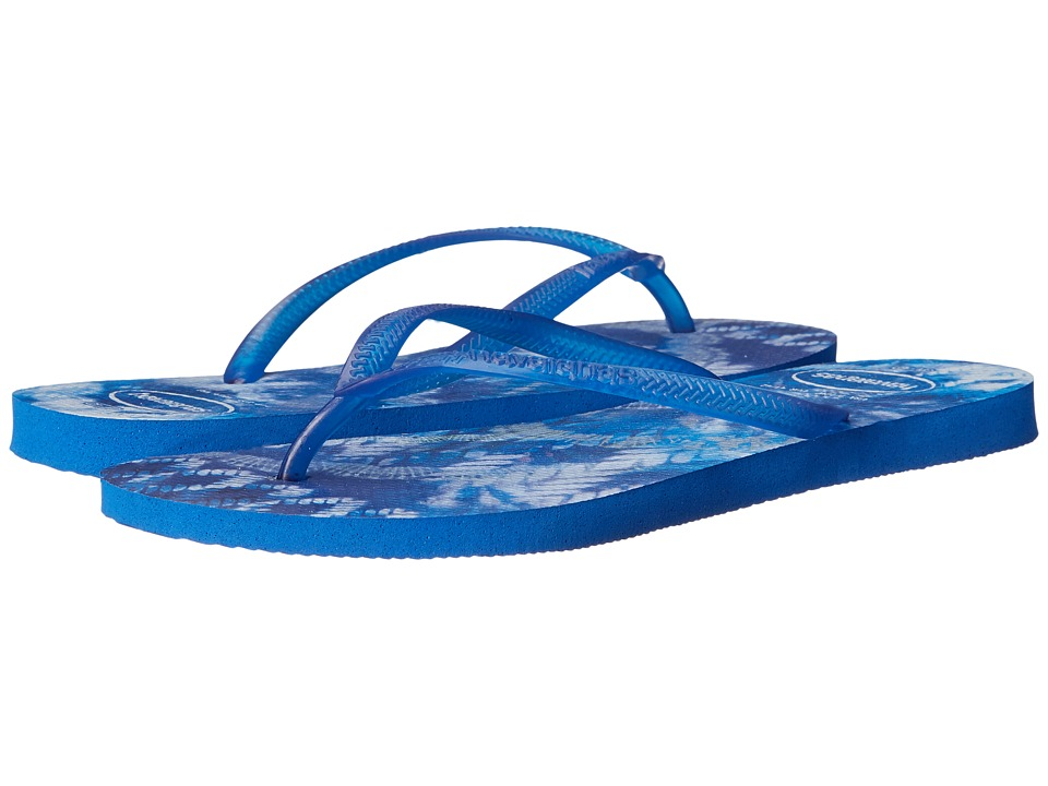 Havaianas - Slim Tie-Dye Flip Flops (Star Blue) Women's Sandals