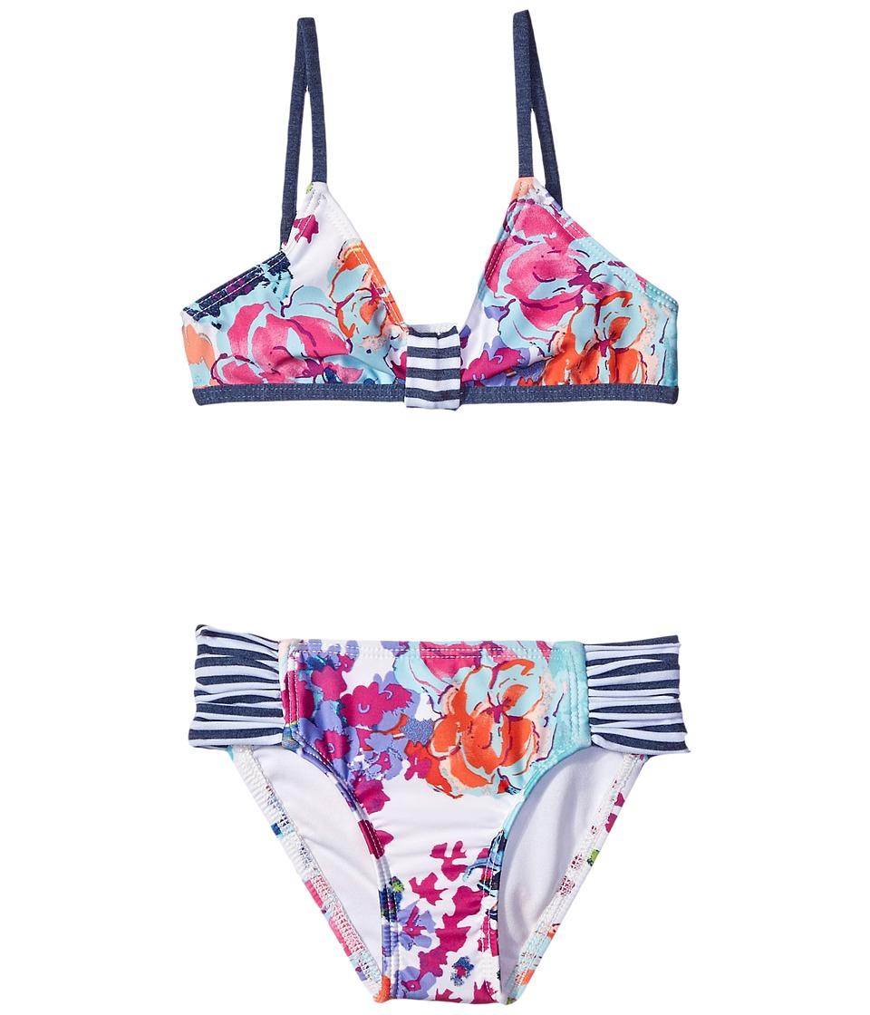 Splendid Littles - Full Bloom Bralette Tab Side Pants (Little Kids) (Multi) Girl's Swimwear Sets
