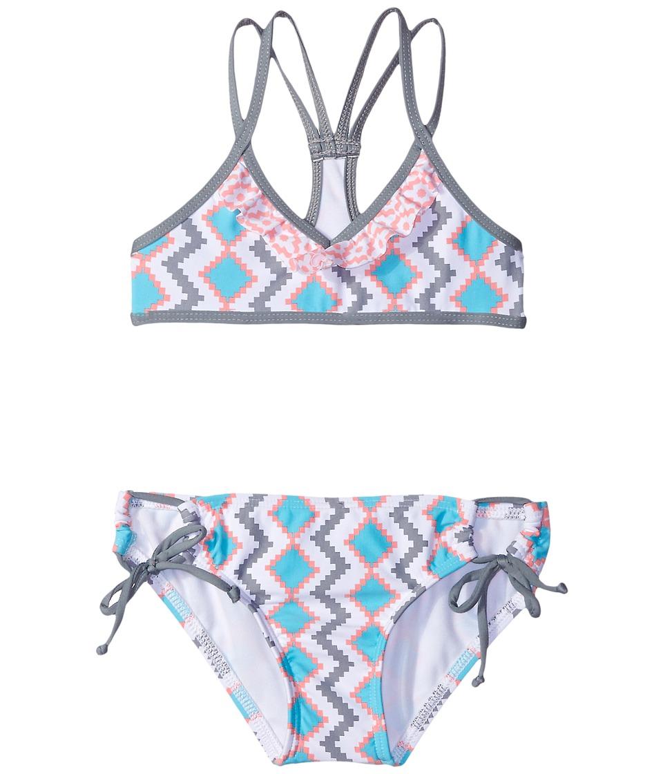 Splendid Littles - Astoria Bralette Tunnel Pants (Little Kids) (Grey) Girl's Swimwear Sets