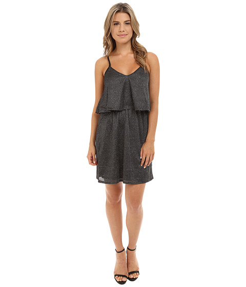 Brigitte Bailey - Amelie Metallic Spaghetti Strap Dress (Charcoal) Women's Dress