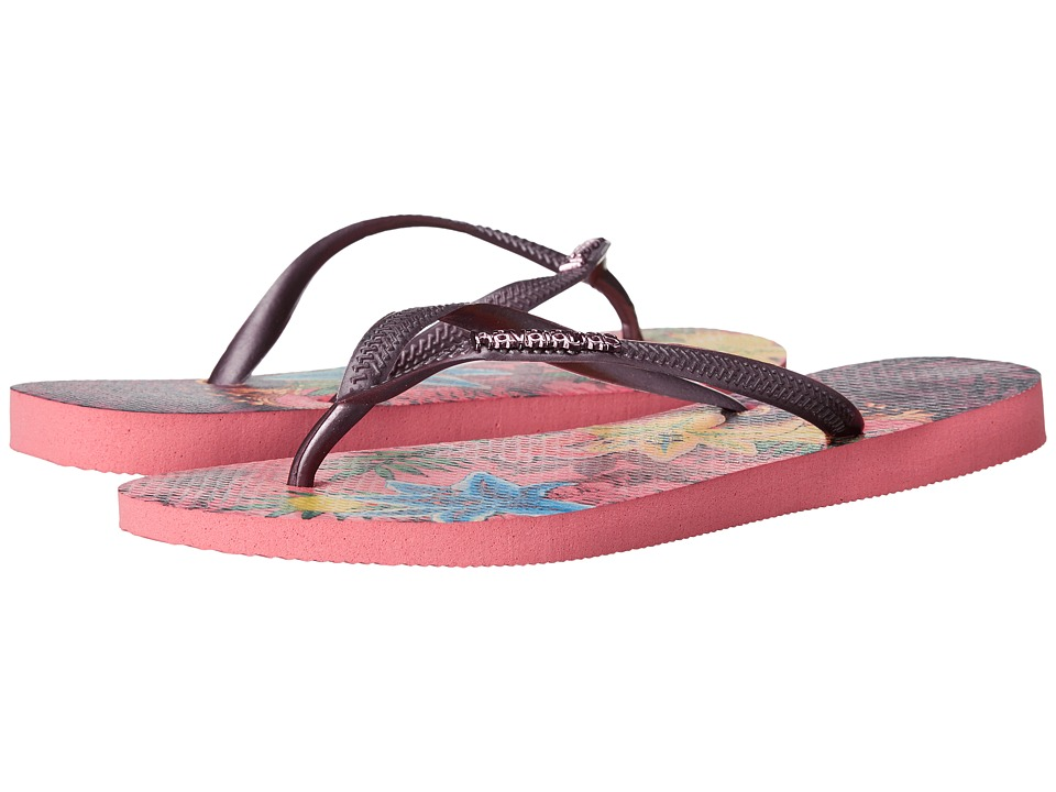 Havaianas - Slim Tropical Flip Flops (Rose) Women's Sandals
