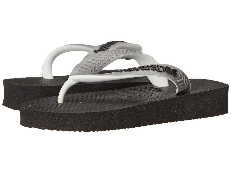 Havaianas Kids - Top Mix (Toddler/Little Kid/Big Kid) (Black/Steel Grey) Girls Shoes