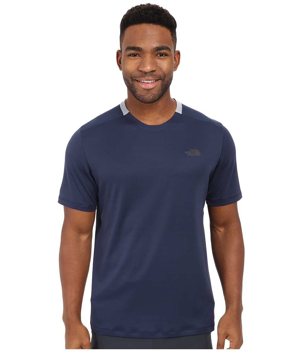 The North Face - Short Sleeve Tek Hike Crew (Cosmic Blue/Mid Grey) Men