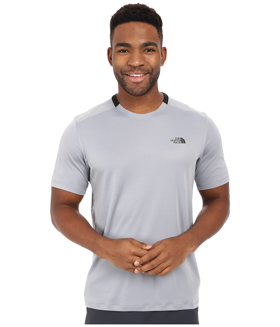 The North Face - Short Sleeve Tek Hike Crew (Mid Grey/TNF Black) Men